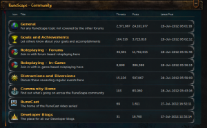 RuneScape Forum Role playing game
